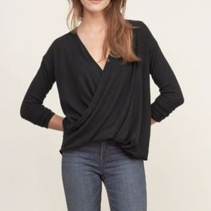 Abercrombie and Fitch Wrap Top